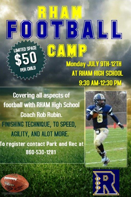 Copy Of Football Training Camp Flyer Template Made With